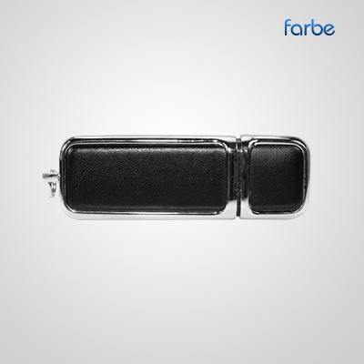 Leather Chrome USB Drive
