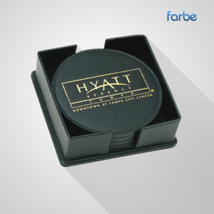 Rubber Coasters – Farbe Middle East | Promotional Gifts