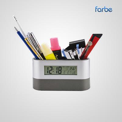 LED Clock with Pen Pot