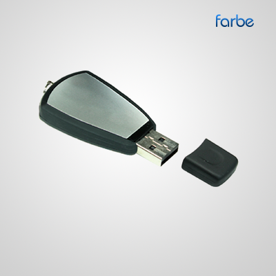 Black Rubber USB Drive