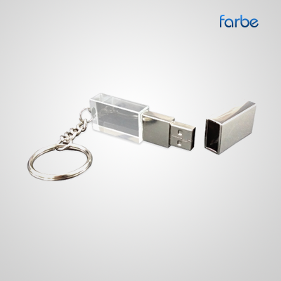 Crystal Silver Flash USB Drive