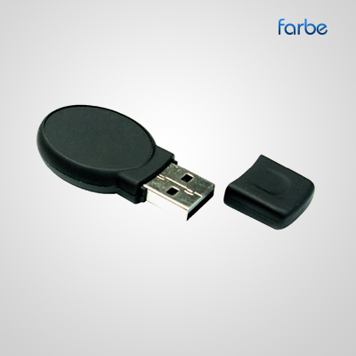 Oval Black USB